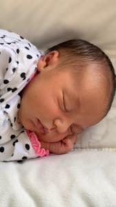 baby Maya Eliana Seltzer sleeping