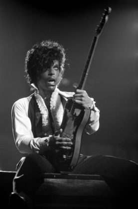 Prince, performing on the second leg of his Controversy Tour at the Tower Theater on March 2, 1982