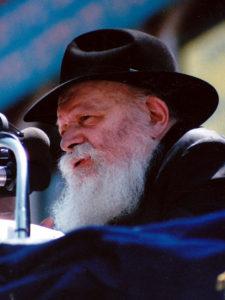 Rabbi Menachem Mendel Schneerson, also known as the Lubavitcher Rebbe