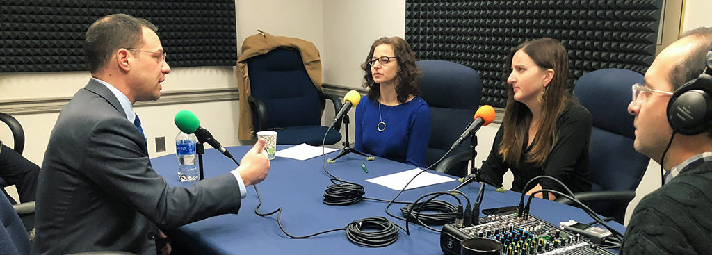 Sabrina Rubin Erdely and Laura Frank interview Attorney General Josh Shapiro for the 'Jewish Philly' podcast