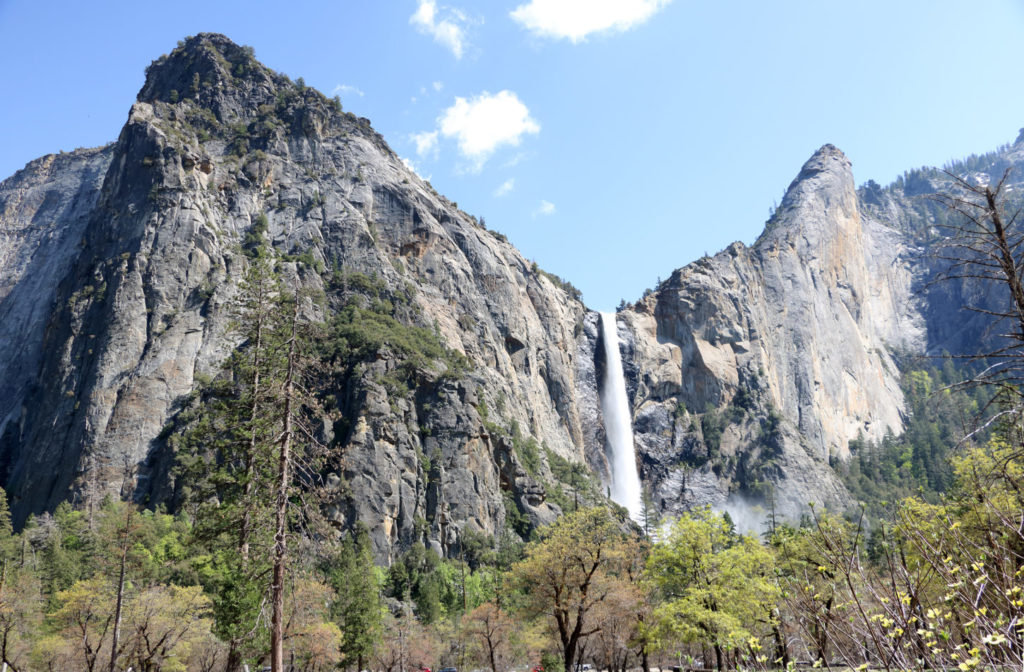 Bridal Veil Falls falls over the mountain