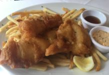 Fish and chips at PJ Clarke's, a restaurant in Philadelphia