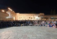 the 400 descendants of Holocaust survivor Shoshana Ovitz at Western Wall