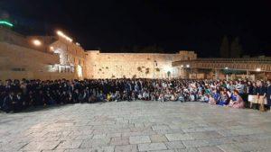 the 400 descendants of Holocaust survivor Shoshana Ovitz at Western Wall