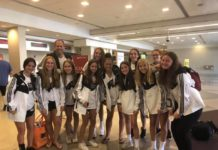 Michael Keitz with the U16 team, on the way to the Maccabi Games in Atlanta