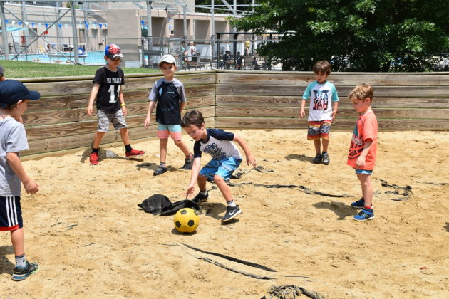 kids play soccer