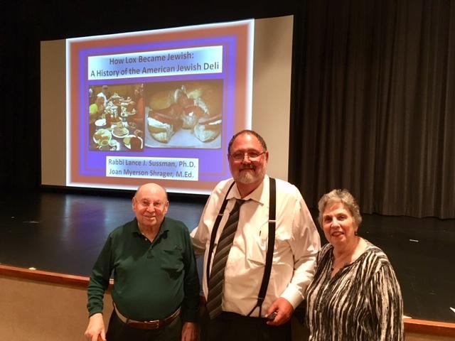 Joe Shrager, Rabbi Lance Sussman and Phyllis Halpern