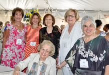 Standing, from left: Judy Auerbach, Jennifer Willner, Sherrie Willner, Jean Herz and Lynne Cohen. Seated: Janice Gorson