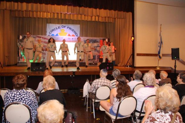 Audience watches the Tzofim Friendship Caravan perform