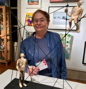 Etta Winigrad with her work