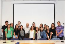 This year's class of Franklin C. Ash interns, with Frank Ash