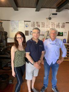 Rabbi Robert Leib with Francesca Perotti and Giuseppe Cavali