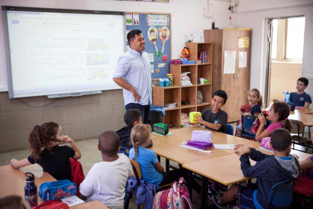 A prior fellow teaches English to Israeli students