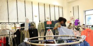 A shopper browses at I. Goldberg