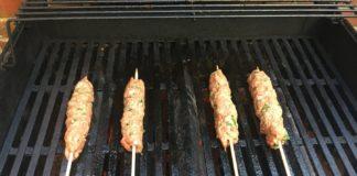 Kofta kebabs on the grill
