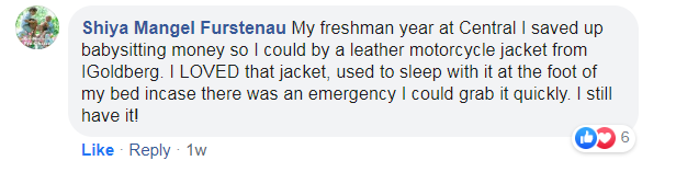 a post about a high schooler saving up money to buy a leather jacket