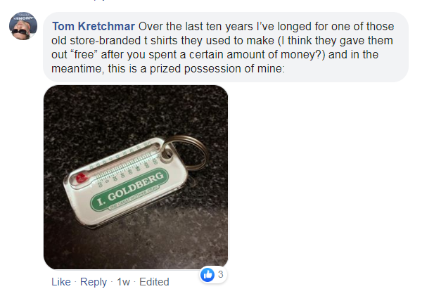 a post about a thermometer key chain being a prized possession