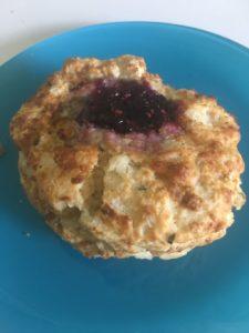 Raspberry rosemary scone