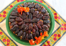 Persian upside down cake with dates