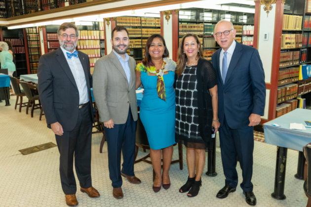 Benjamin Leavenworth, Fernando Treviño, Councilwoman Maria Quiñones-Sanchez, Marcia Bronstein and Fred Strober