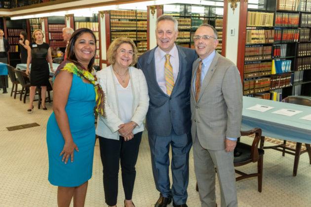 Councilwoman Maria Quiñones-Sanchez, Helen Assanis, Dennis Assanis and David Hyman