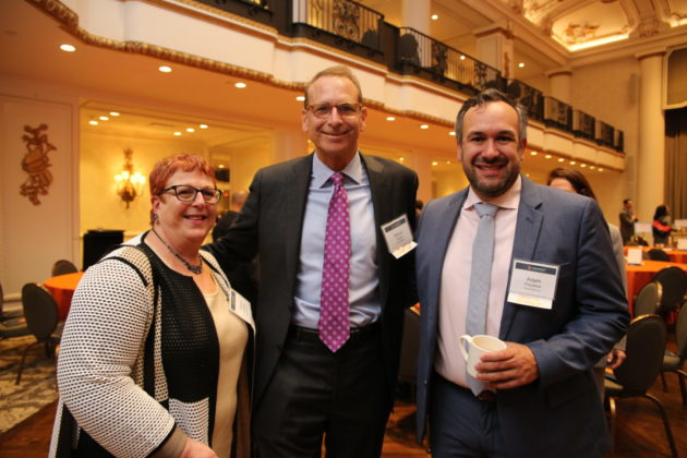 From left: Sharon Greenberg with Steven Savran and Adam Poutasse