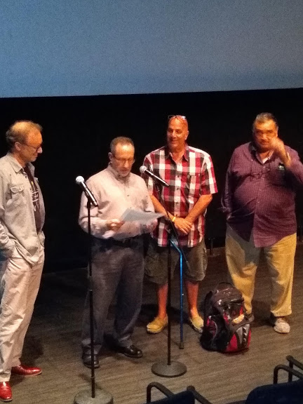 Film panel members Joseph C. Brin, Jerry Silverman, Gus Rosanio and Joseph Van Blunk