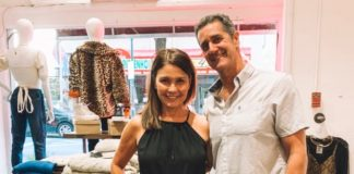 Laura and Greg Rothstein at the new Lunachick in Rittenhouse