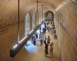 The restored vaulted walkway