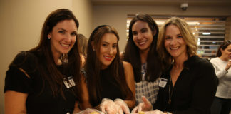 Rachel Rothbard Heller and friends display matzah balls