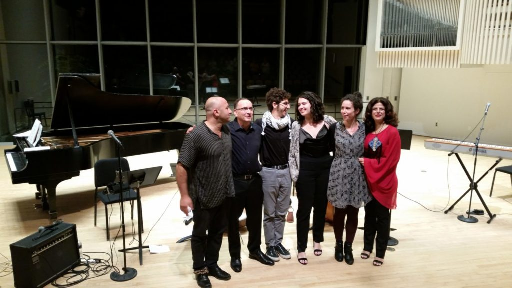 Zafer Tawil, Udi Bar-David, Fouad Dakwar, Shira Samuels-Shragg, Tammy Scheffer and Nathalie Handal