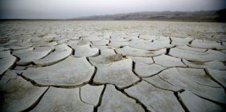 dry lake bed near Israel's Dead Sea