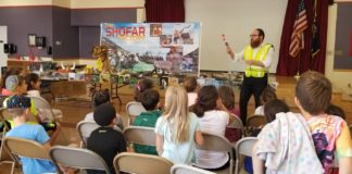 A shofar making presentation