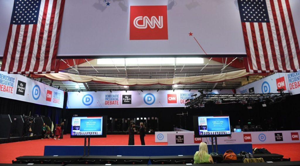 fourth democratic primary debate stage
