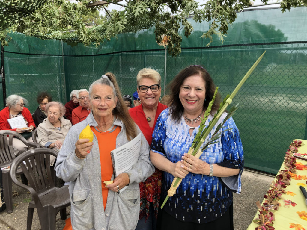 Barri Goldstein, Shelley Geltzer and Rabbi Sandra Rosenthal Berliner