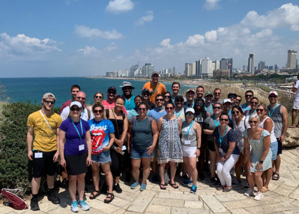 The 2019 Honeymoon Israel cohort in Tel Aviv