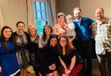 Barrack alumni at a Spruce Street Minyan gathering