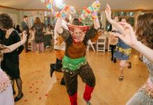 Estee Ellis dances in a costume