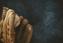 baseball in a mitt