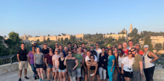 Honeymoon Israel group at the Western Wall