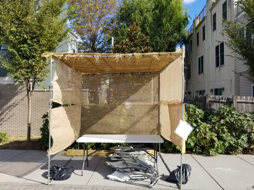 rebuilt sukkah at Julian Abele Park