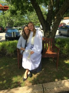 Leah Isayev and her mother at her confirmation ceremony