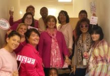 Jewish Family Service staff wear pink
