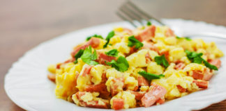 salami and eggs