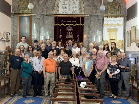 Main Line Reform Temple congregants at Slat El-Azama