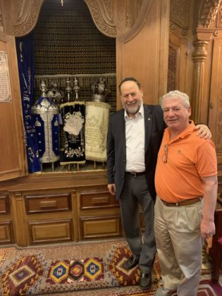 Rabbi David Straus with Jackie Kaddish
