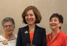 Greater Philadelphia Section Co-President Cindy Pasceri, national NCJW President Beatrice Kahn and Greater Philadelphia Section Co-President Barbara Nussbaum