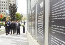 City Council members at the memorial