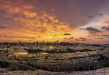 Jerusalem at sunset