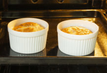 two omelette souffles in the oven